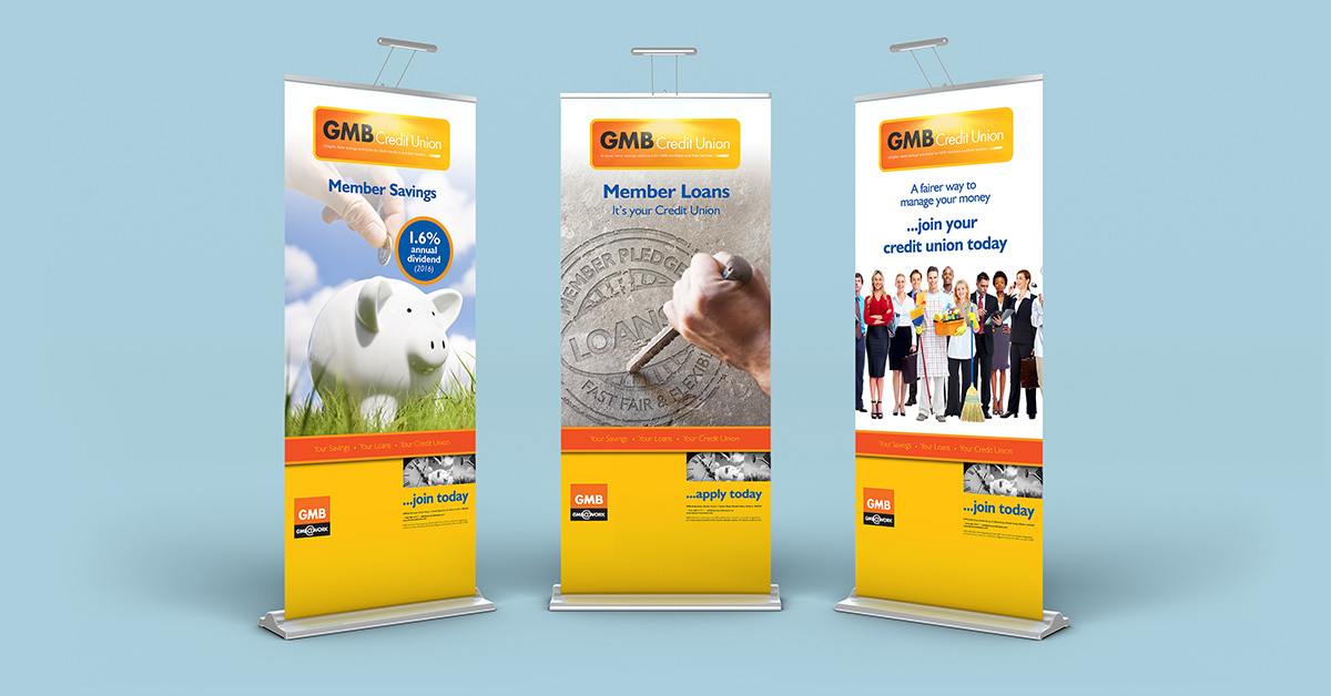 Pull-up banner design Golborne