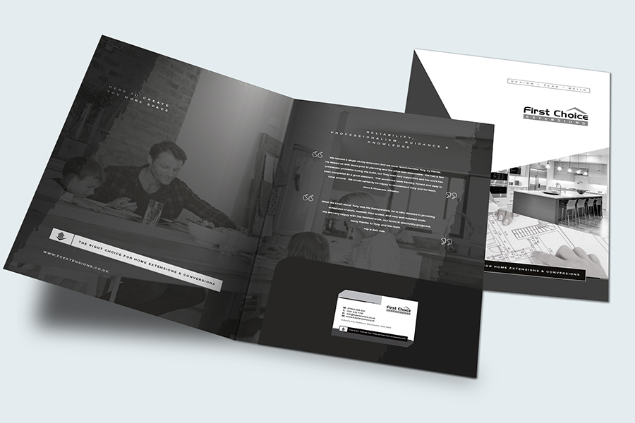 Presentation folder design Swinton
